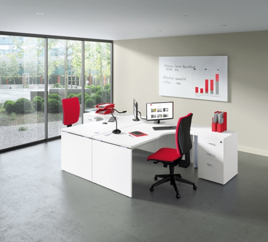 Office desking with Panel Legs
