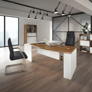 Kara Curved Fronted Desk with Return Module