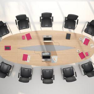 Multi Elliptical Conference Table