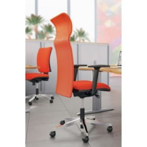 Network Red Mesh Chair High Back Operators Chair with Headrest