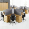 call centre cluster of desks
