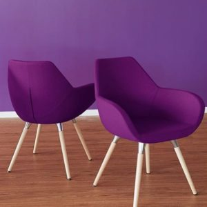 Purple Lobby Chairs