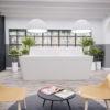 Reception Desk Design in White Corian