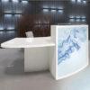 Curved Light Reception Desk