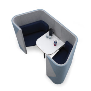2 Person Pods with seating and table