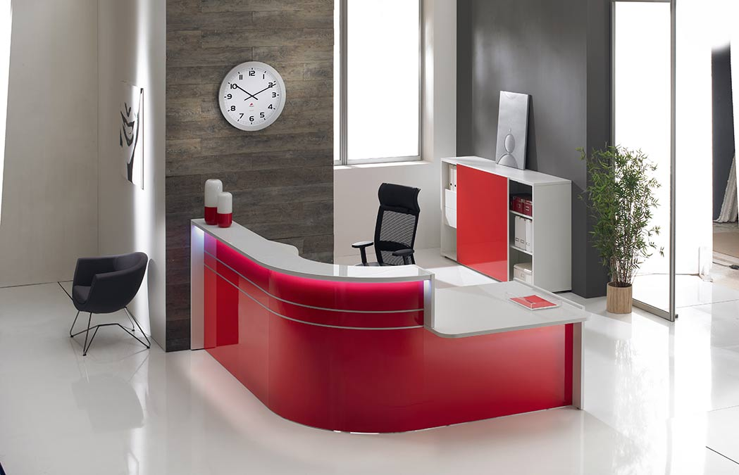 Gloss Reception Counter Desks Solutions 4 Office