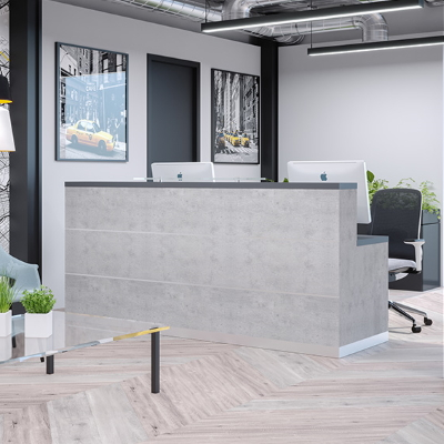 Grey Receptionist Desk
