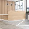 Light Wood Reception Counter