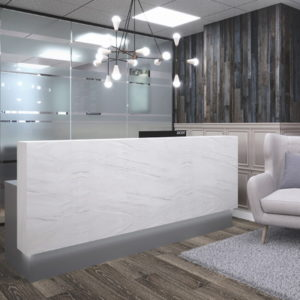 Reception Desk with Marble Front
