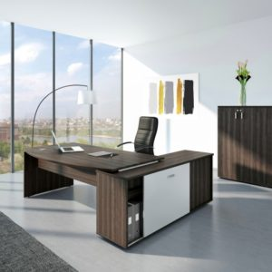 Moka Executive Desk with Return