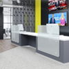 Reception Desk in Grey and White