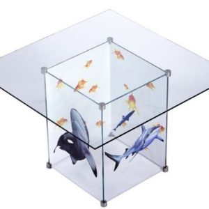 Glass Table with Sharks