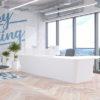 White Reception Desk Designed in UK