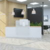 Office Reception Desk with Frosted Upstand
