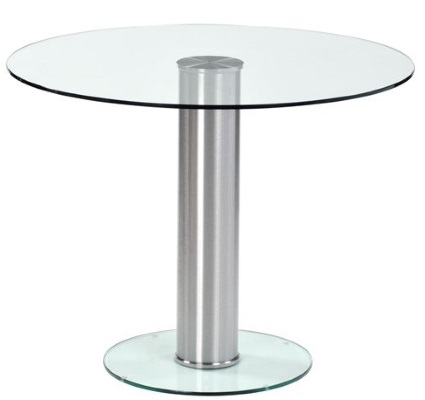Round Glass Meeting Table