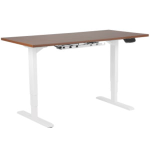 Sit Stand Desk with Walnut Top