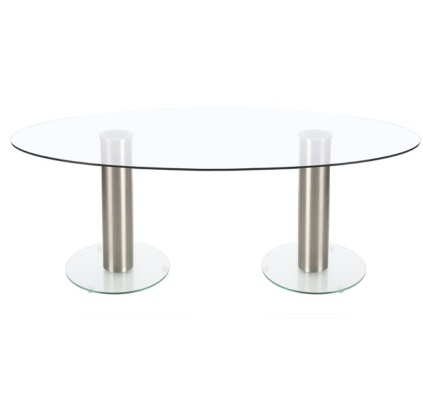 Twin Base Glass Meeting Table