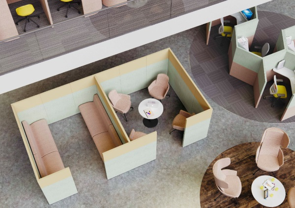 Acoustic Pods viewed from above | Solutions 4 Office