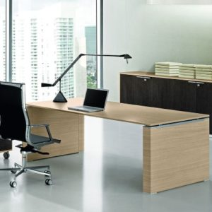 Concorde Executive Desk Natural Oak