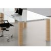 Concorde Glass Top Executive Desk with Square Legs