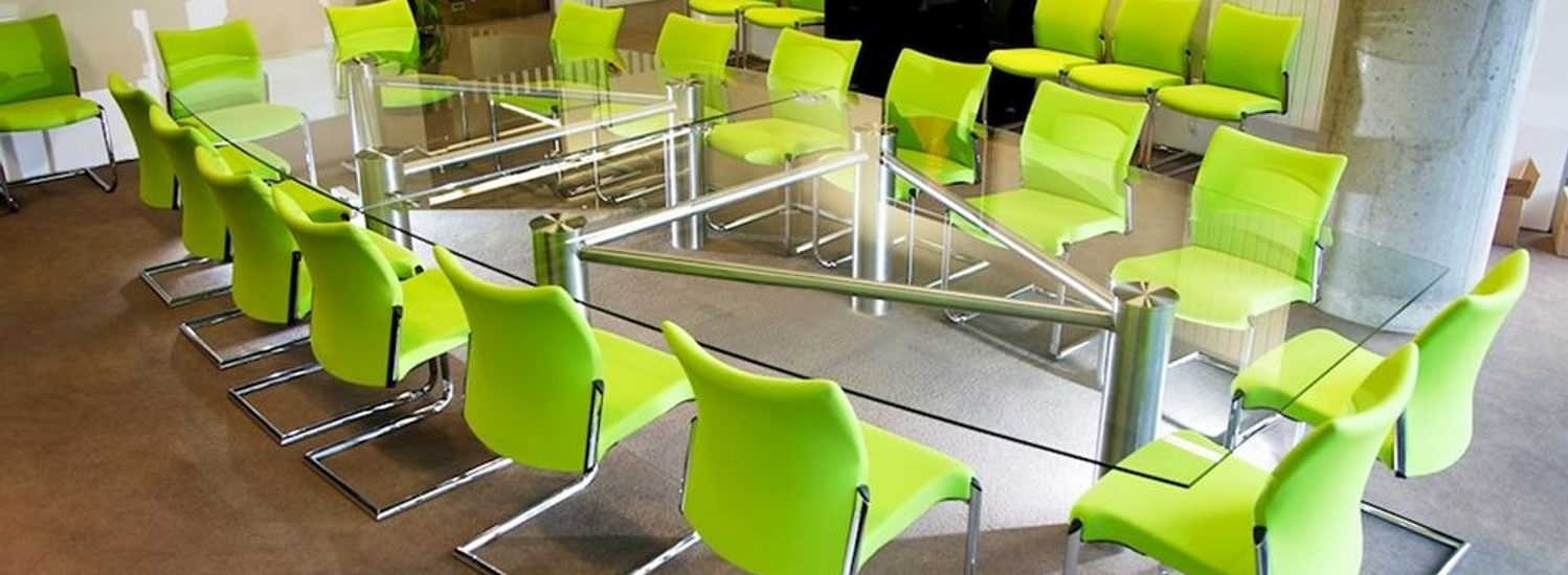 Large Glass Meeting Table