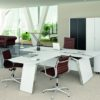 Messa Executive Desk in White