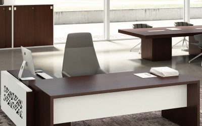 Taste Executive Desk wenge and white