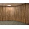 storage wall in walnut