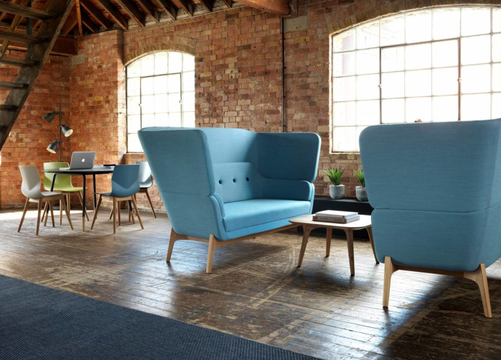 Stylist high-backed soft seating chairs for the office   Breakout furniture ideas from Solutions 4 Office