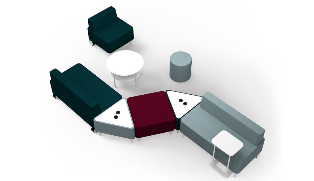 Example office furniture configuration to demonstrate use of breakout furniture | Solutions 4 Office