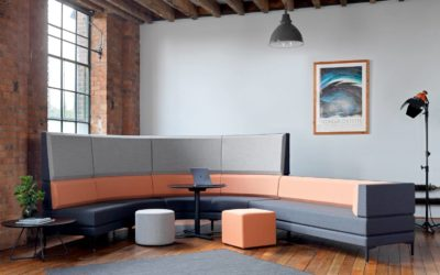 Soft seating ideal for breakout spaces in office environments