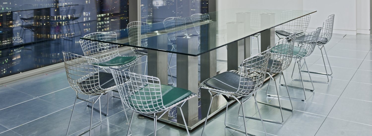 Modern Glass Boardroom Table
