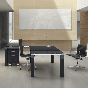Executive Glass Top Desk
