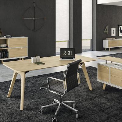 Modern Executive Desks in Light Oak