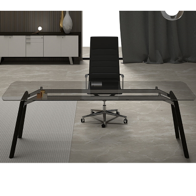 Modern Executive Glass Desk