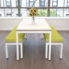Plateau Meeting Table with Steel Legs
