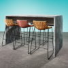 Plateau Standing Height Meeting Table in Concrete mfc