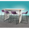 Plateau Standing Meeting Table with Panel End Inset Leg