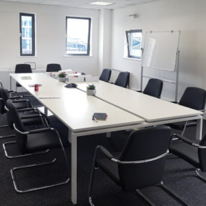 Rectangle Meeting Room Table in white