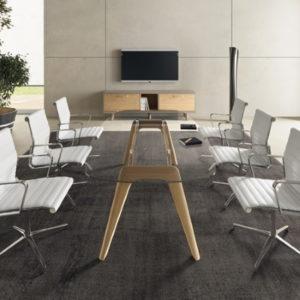 Stylish Glass Meeting Table