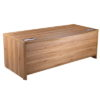 Walnut Executive Bow Fronted Desk