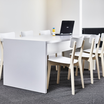 White Breakout Table