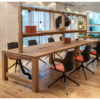 Wooden Meeting Table with Lighting Gantry