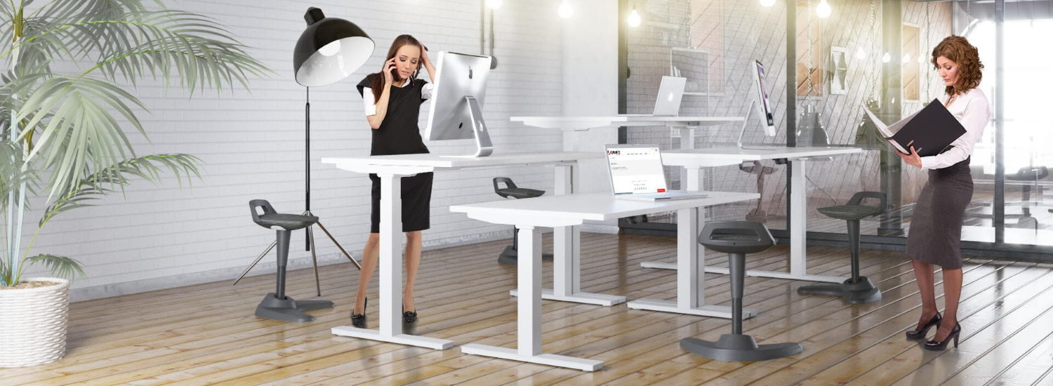 White SitStand Desks