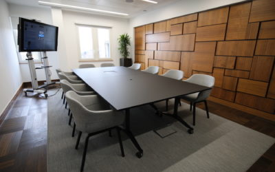Boardroom table for London Bank by Solutions 4 Office