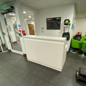 reception desk for gym