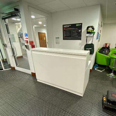 reception desk for gym