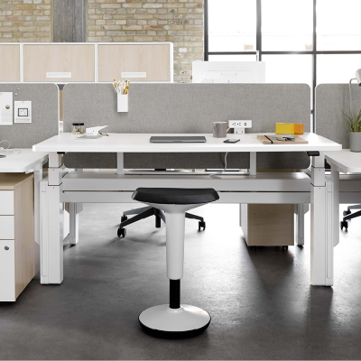 Standing Stool with height adjustable desk