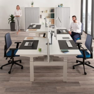 height adjustable bench desks