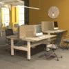 group of height adjustable desks